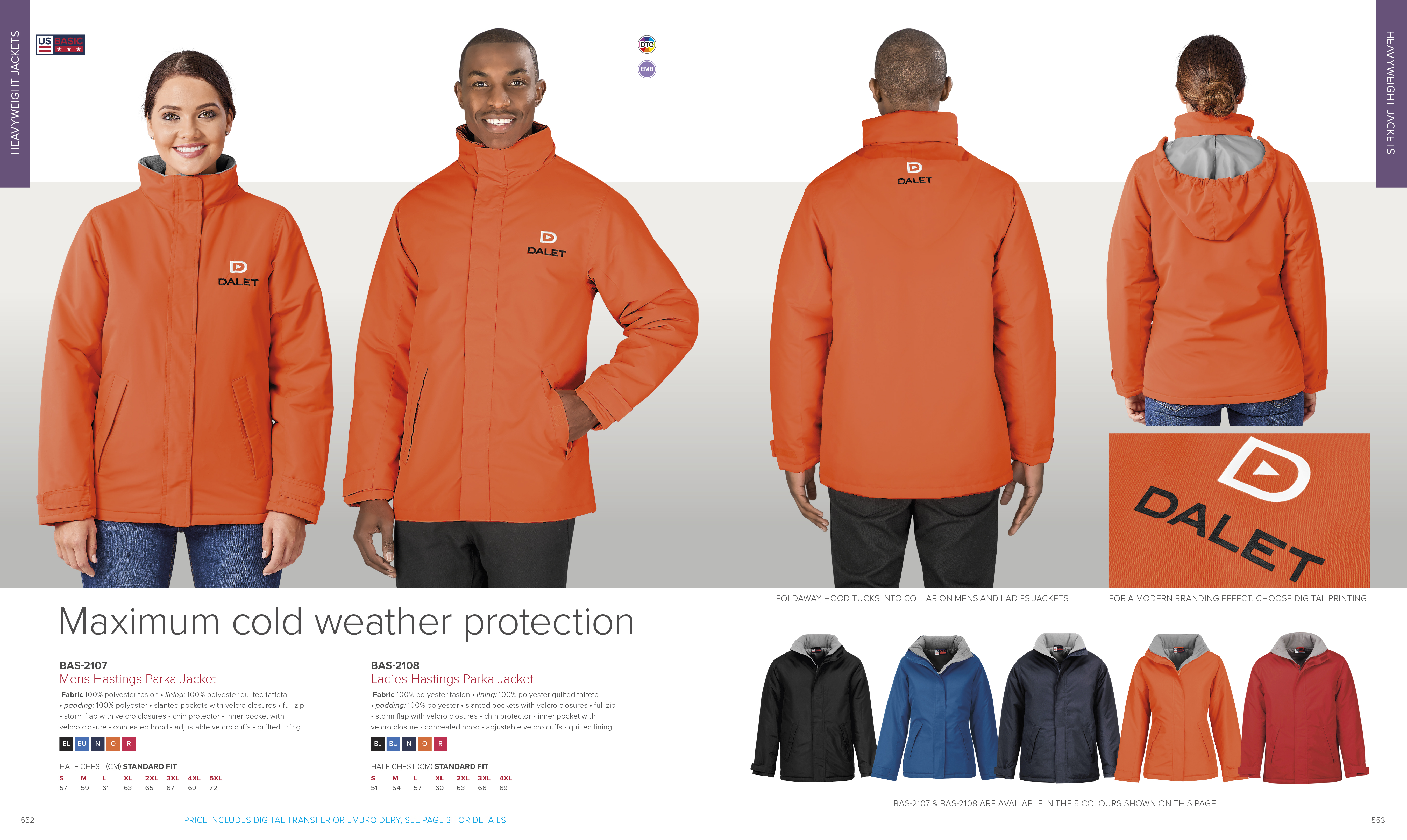 Hastings parka jacket winter jackets corporate uniforms for Spa uniform south africa