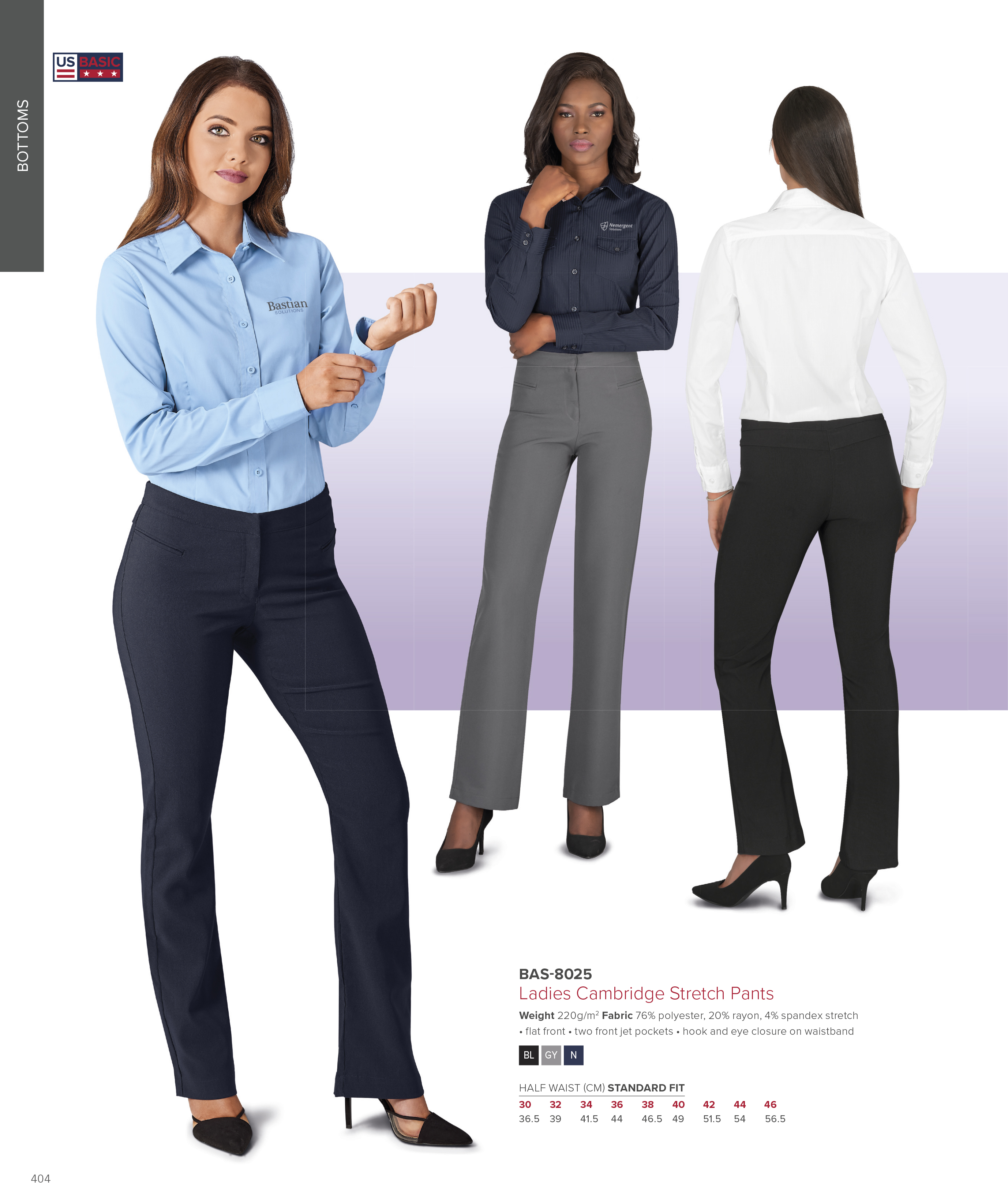 US Basic Ladies Cambridge Stretch Pants | BAS-8025