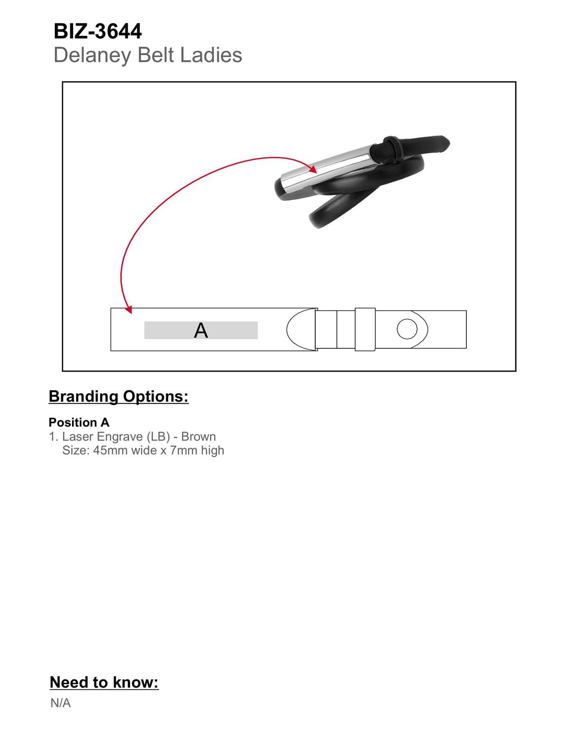 BIZ-3644 product layout